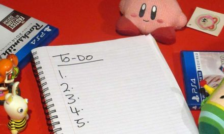 A gamer's to-do list