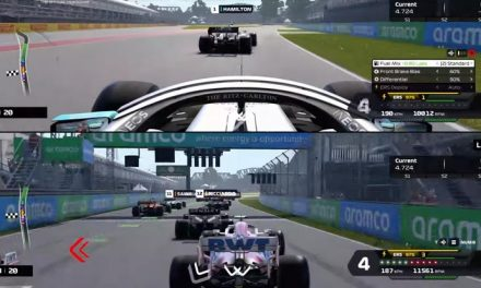 Going split screen in F1 2020