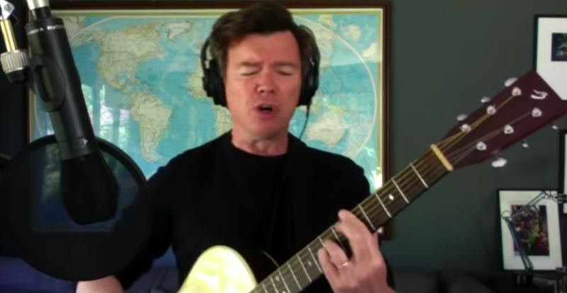 Rick Astley does the Foo Fighters