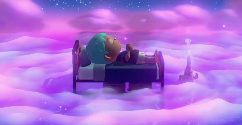 Sleepwalk in Animal Crossing!