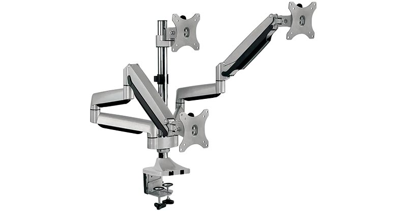 Ergovida EzyMount Gas Spring Triple Monitor Arm