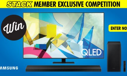 "Win a 75"" Samsung Q80T QLED TV and Soundbar!"