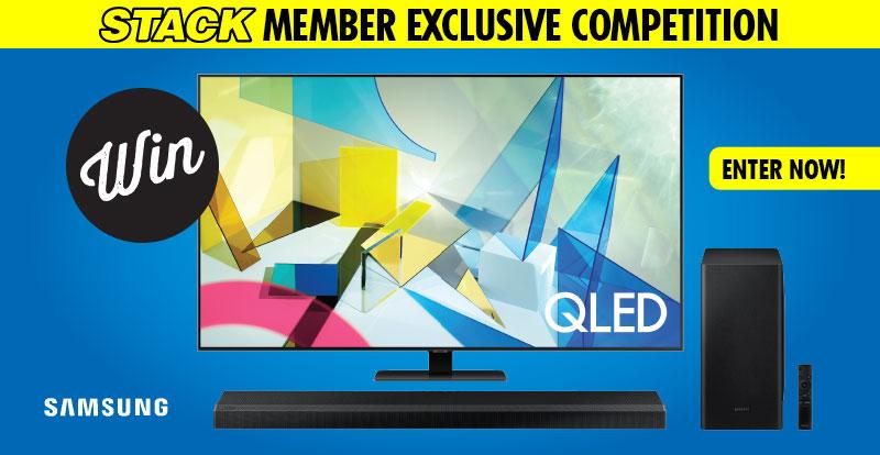 """Win a 75"""" Samsung Q80T QLED TV and Soundbar!"""