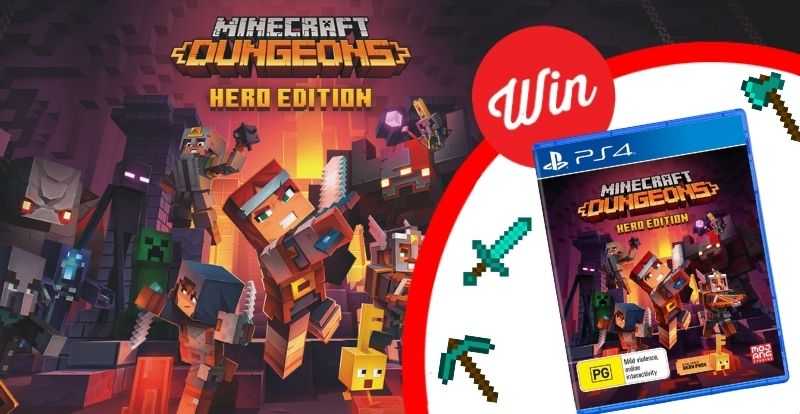 WIN a copy of Minecraft Dungeons Hero Edition on PS4!