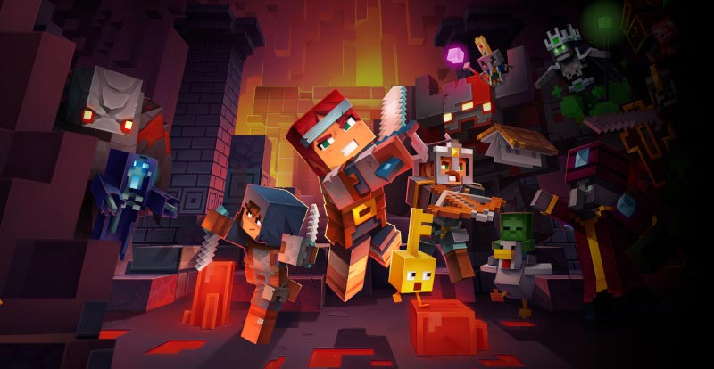 Get physical with Minecraft Dungeons!