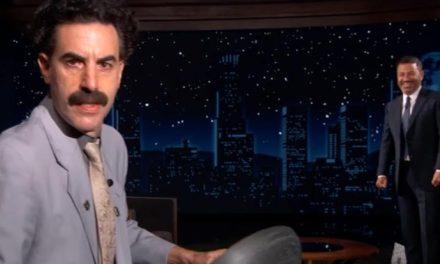 Jimmy Kimmel loses his pants to Borat