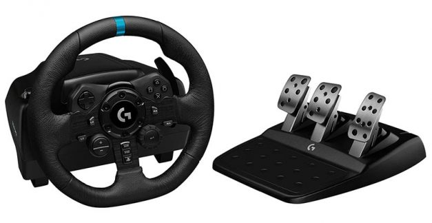 Playing with the Logitech G923 Racing Wheel and Pedals