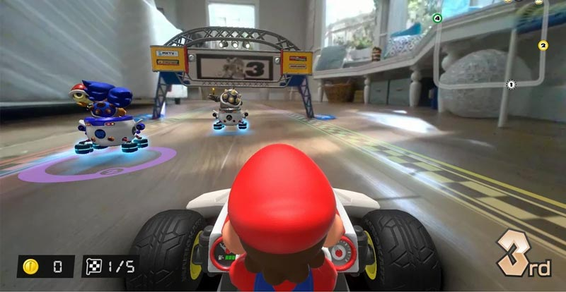 A pit stop with Mario Kart Live Home Circuit