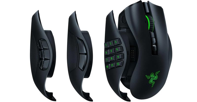 Playing with the Razer Naga Pro wireless gaming mouse