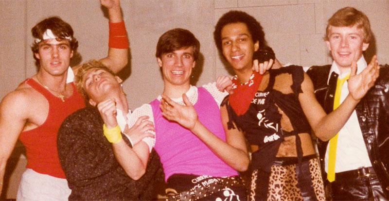 Tom Morello with his first band