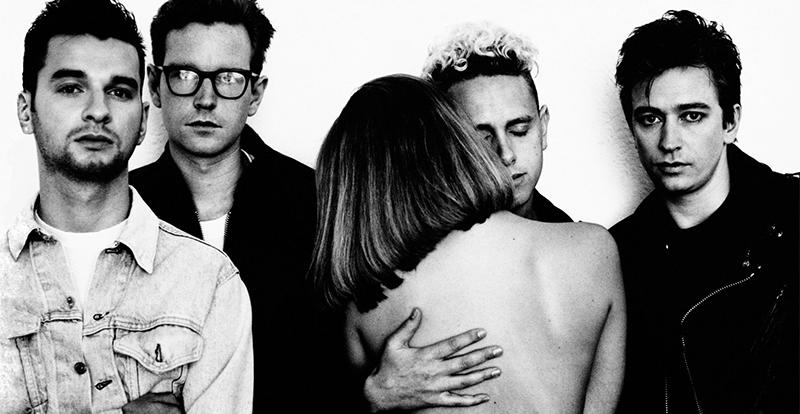 Four bandmembers of Depeche Mode