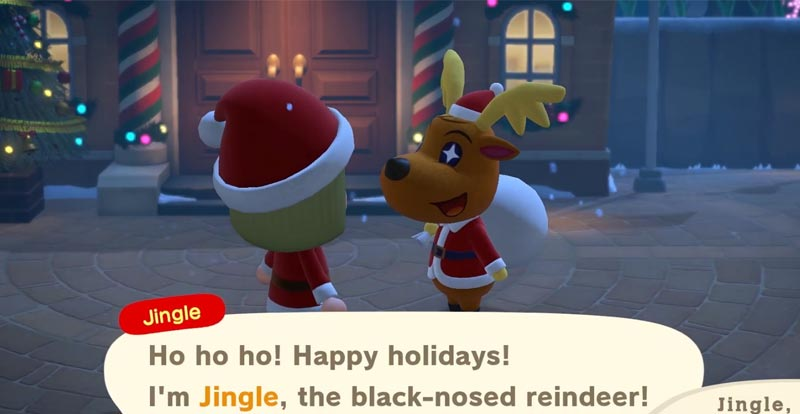 Holiday time in Animal Crossing: New Horizons