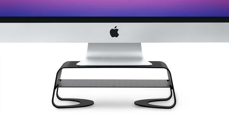Playing with the Twelve South Curve Riser monitor stand