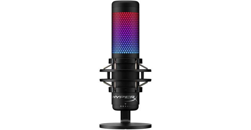 Playing with the HyperX Quadcast S RGB USB microphone