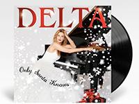 Vinyl album cover artwork for Only Santa Knows by Delta Goodrem