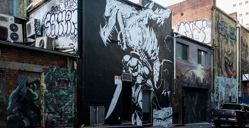 Games as art – Bethesda paints Melbourne black and white