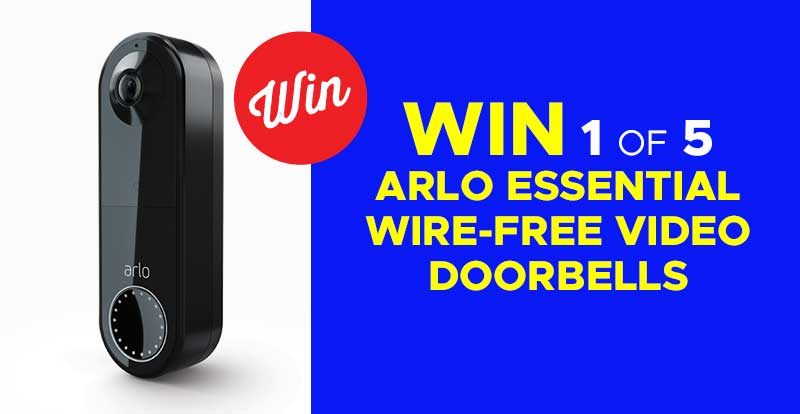 WIN an Arlo Essential Wire-Free Video Doorbell
