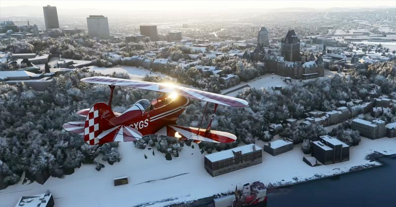 Snow business in Microsoft Flight Simulator