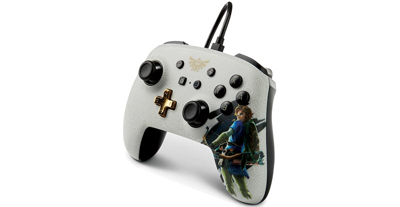 The Legend of Zelda: Breath of the Wild PowerA Nintendo Switch enhanced wired controller