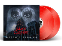 Album cover artwork for Alice Cooper album, with red vinyl LP popping out