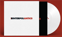 Album cover artwork and white vinyl for Antics by Interpol