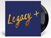 Albunm cover artwork and vinyl LP for Legacy