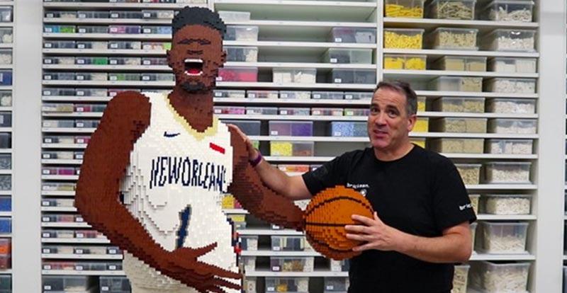 NBA 2K21 star Zion Williamson gets the LEGO treatment