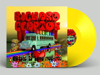 Album cover artwork for Richard Clapton with yellow vinyl record popping out