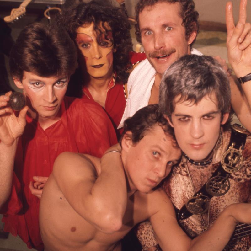 The five bandmembers of Skyhooks in 1975