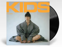 album cover artwork for KIDS by Noga Erez with vinyl record popping out