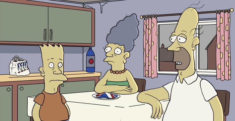 Do you wish to partake of a British-styled The Simpsons?