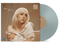 Album artwork for Billie Eilish with pale blue vinyl popping out