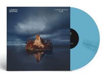 album co ver artwork for London Grammar with blue vinyl record popping out