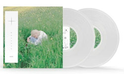 ALbum cover for Porter Robinson with bone-coloured vinyl record popping out