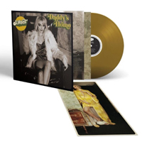Album cover artwork for St. Vincent with bronze vinyl record popping out