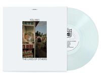 Album cover art for You Am I with light blue vinyl record popping out