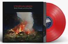 Album cover artwork with red vinyl record popping out