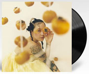 Album cover artwork for Japanese Breakfast with black vinyl record popping out