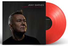 Album artwork with red vinyl record popping out