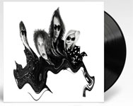 Album cover artwork for The Scientists with black vinyl record popping out
