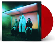 Album cover artwork for Wolf Alice with red vinyl record popping out