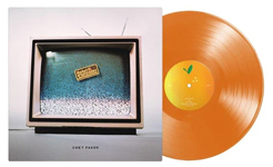 Chet Faker album cover with orange vinyl record popping out