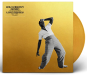 Album cover artwork for Leon Bridges with gold vinyl record popping out