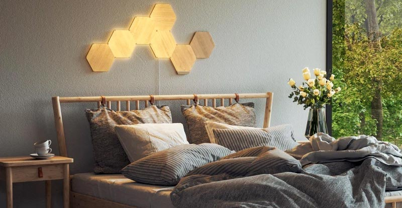 Playing with the Nanoleaf Elements Wood Look Starter Kit