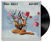 album cover for Paul Kelly with black vinyl record popping out