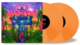 Album cover art for Tones and I with orange vinyl popping out