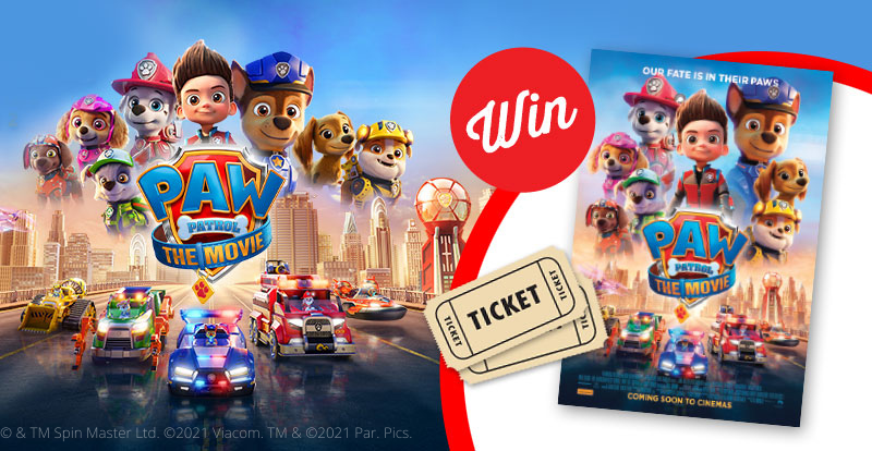 Take the family to see PAW PATROL: THE MOVIE!