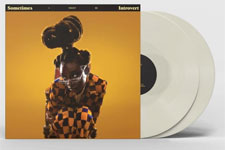 Album cover artwork for Little Simz with white vinyl record popping out