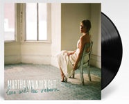 Album cover artwork for Martha Wainwright with black vinyl record popping out