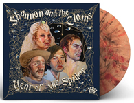 Album cover art for Shannon & the Clams with pink splatter vinyl record popping out